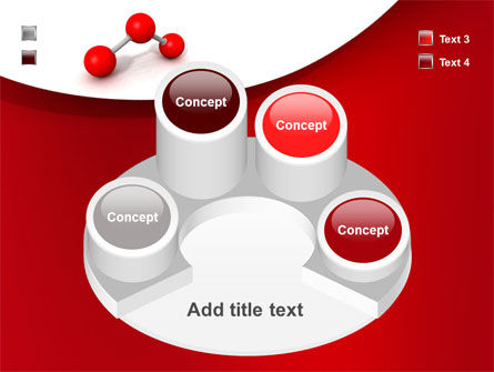 Molecular Triatomic Model PowerPoint Template Slide 12
