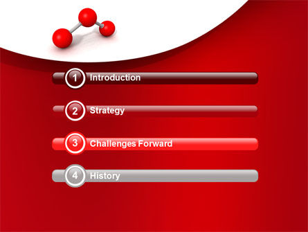 Molecular Triatomic Model PowerPoint Template Slide 3