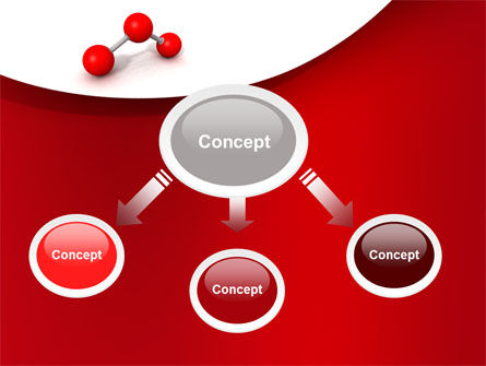 Molecular Triatomic Model PowerPoint Template Slide 4