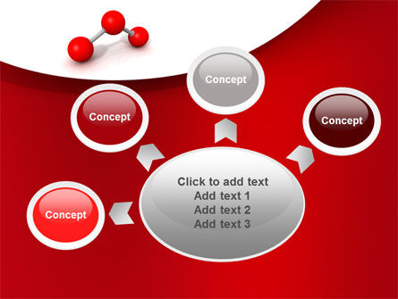 Molecular Triatomic Model PowerPoint Template Slide 7