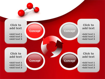 Molecular Triatomic Model PowerPoint Template Slide 9