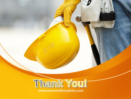 Construction Worker PowerPoint Template Slide 20