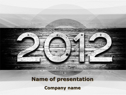 2012 Report PowerPoint Template