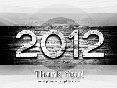 2012 Report PowerPoint Template Slide 20