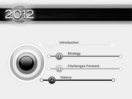 2012 Report PowerPoint Template Slide 3