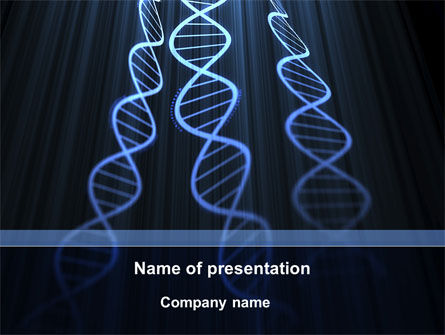 Deoxyribonucleic Acid Spiral PowerPoint Template, 09437, Technology and Science — PoweredTemplate.com