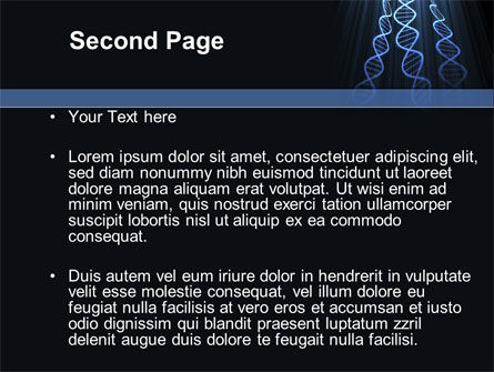 Deoxyribonucleic Acid Spiral PowerPoint Template, Slide 2, 09437, Technology and Science — PoweredTemplate.com