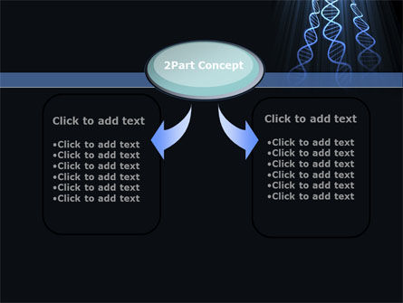 Deoxyribonucleic Acid Spiral PowerPoint Template, Slide 4, 09437, Technology and Science — PoweredTemplate.com