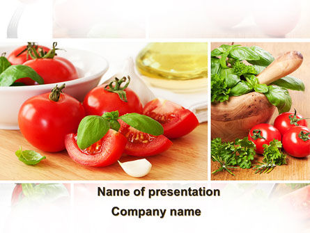 Food & Beverage: Sliced Tomatoes PowerPoint Template #09438