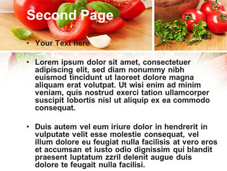 Sliced Tomatoes PowerPoint Template, Slide 2, 09438, Food & Beverage — PoweredTemplate.com