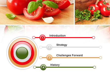 Sliced Tomatoes PowerPoint Template, Slide 3, 09438, Food & Beverage — PoweredTemplate.com