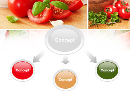 Sliced Tomatoes PowerPoint Template, Slide 4, 09438, Food & Beverage — PoweredTemplate.com