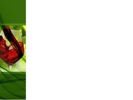 Red Winegrowing PowerPoint Template, Slide 3, 09440, Food & Beverage — PoweredTemplate.com