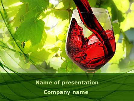 Red Winegrowing PowerPoint Template