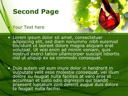 Red Winegrowing PowerPoint Template Slide 2
