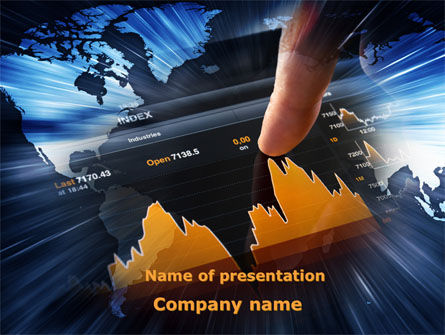 Stock Market Rates Analysis PowerPoint Template