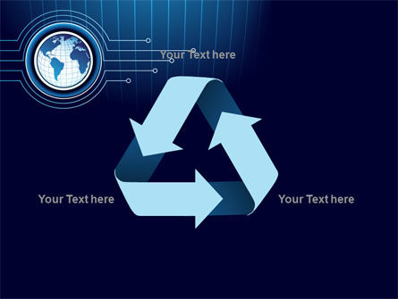 Blue Globe of Earth PowerPoint Template Slide 10