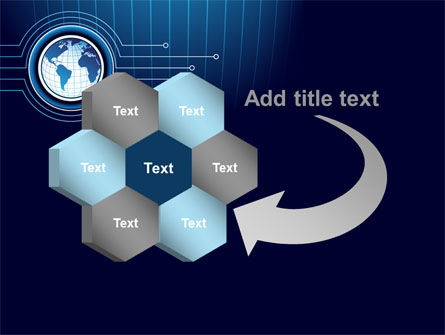 Blue Globe of Earth PowerPoint Template Slide 11