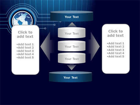 Blue Globe of Earth PowerPoint Template Slide 13