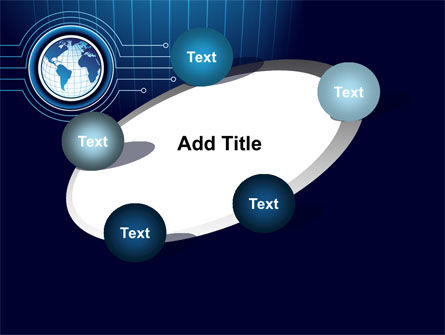 Blue Globe of Earth PowerPoint Template Slide 14