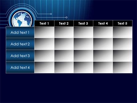 Blue Globe of Earth PowerPoint Template Slide 15