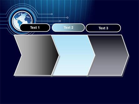 Blue Globe of Earth PowerPoint Template Slide 16
