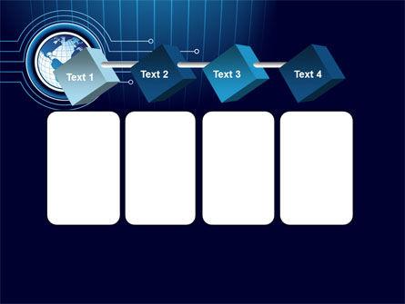 Blue Globe of Earth PowerPoint Template Slide 18