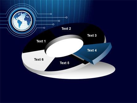 Blue Globe of Earth PowerPoint Template Slide 19