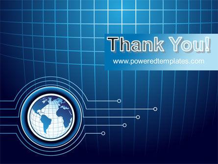 Blue Globe of Earth PowerPoint Template Slide 20