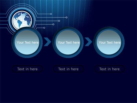 Blue Globe of Earth PowerPoint Template Slide 5
