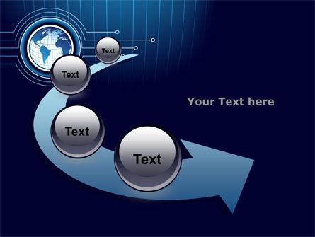 Blue Globe of Earth PowerPoint Template Slide 6