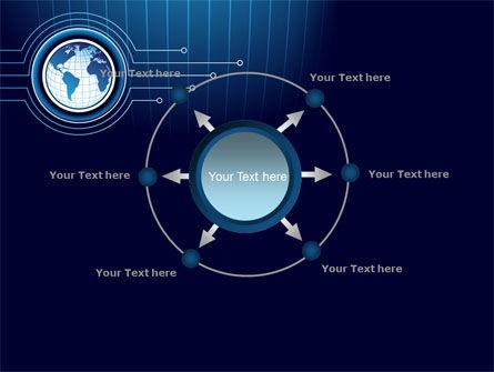 Blue Globe of Earth PowerPoint Template Slide 7