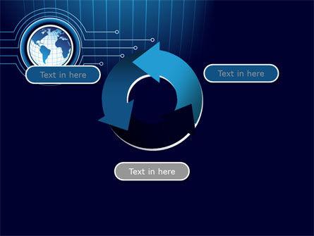 Blue Globe of Earth PowerPoint Template Slide 9