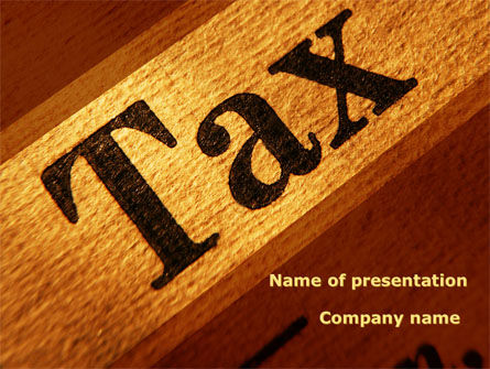 Tax PowerPoint Template, 09445, Financial/Accounting — PoweredTemplate.com