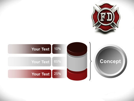 Fire Department Badge PowerPoint Template Slide 11