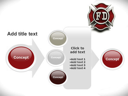 Fire Department Badge PowerPoint Template Slide 17
