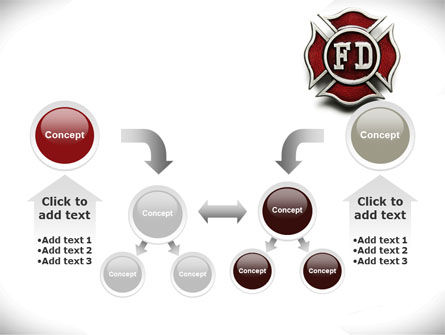 Fire Department Badge PowerPoint Template Slide 19