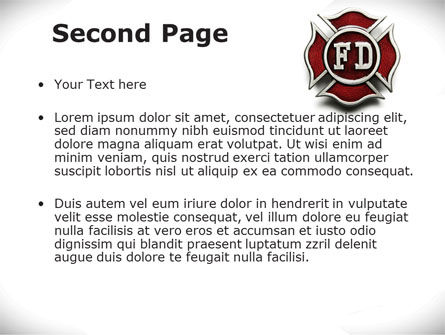 Fire Department Badge PowerPoint Template Slide 2