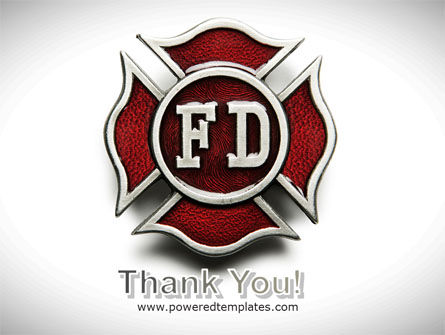 Fire Department Badge PowerPoint Template Slide 20