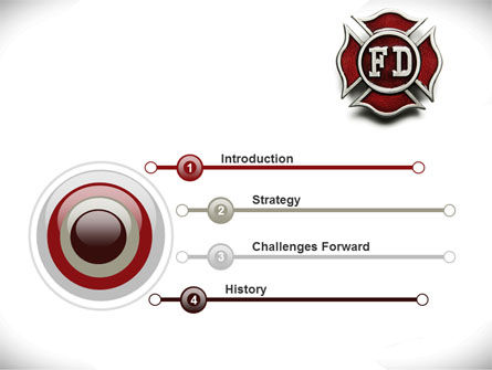 Fire Department Badge PowerPoint Template Slide 3