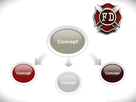 Fire Department Badge PowerPoint Template Slide 4