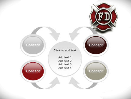 Fire Department Badge PowerPoint Template Slide 6
