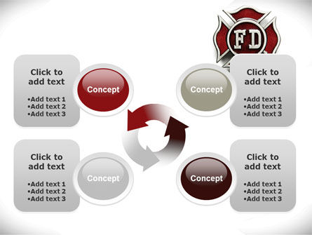 Fire Department Badge PowerPoint Template Slide 9
