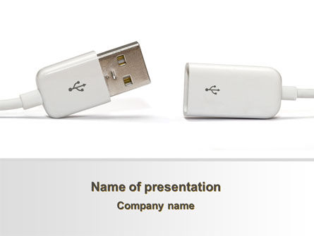 USB Connection PowerPoint Template, 09448, Technology and Science — PoweredTemplate.com
