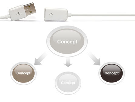 USB Connection PowerPoint Template Slide 4