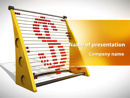 Financial/Accounting: Abacus PowerPoint Template #09449
