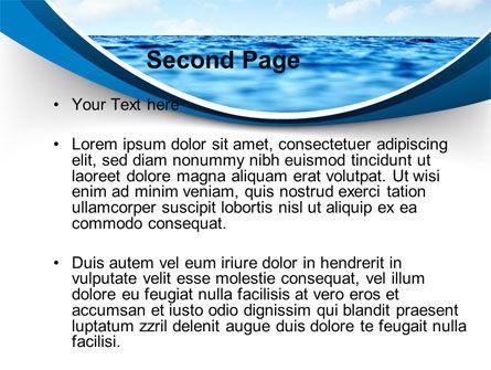 Sea PowerPoint Template, Slide 2, 09450, Nature & Environment — PoweredTemplate.com