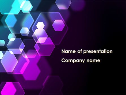 Hexagonal Bokeh PowerPoint Template, 09451, Abstract/Textures — PoweredTemplate.com