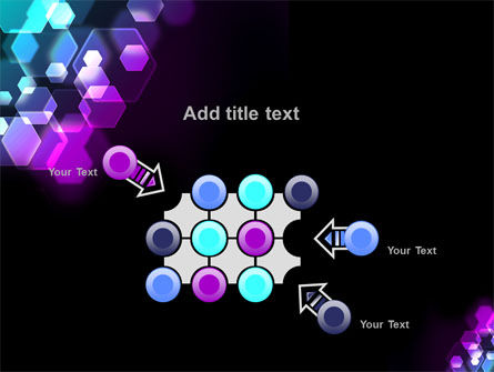 Hexagonal Bokeh PowerPoint Template Slide 10