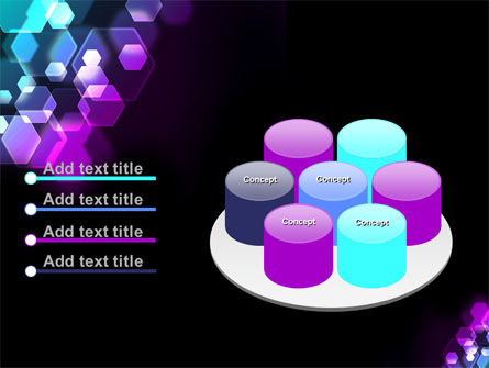 Hexagonal Bokeh PowerPoint Template Slide 12
